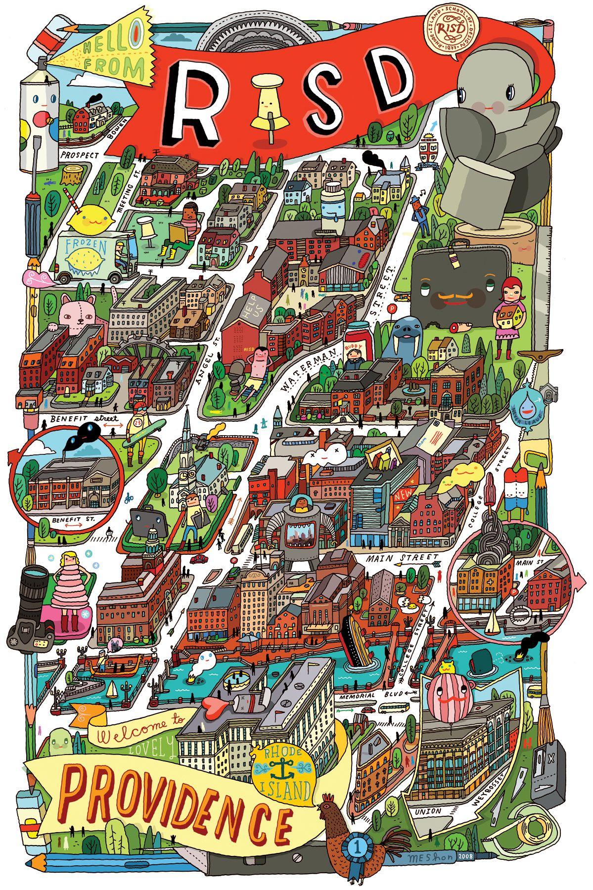 Aaron Meshon Risd Full Campus Map Aaron Meshon In 2019 Campus