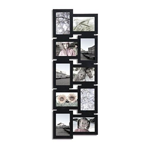 Adeco Decorative Black Wood Interlocking Wall Hanging Collage Picture Photo Frame 10 Opening With Images Picture Frame Wall Wall Hanging Photo Frames Photo Wall Display