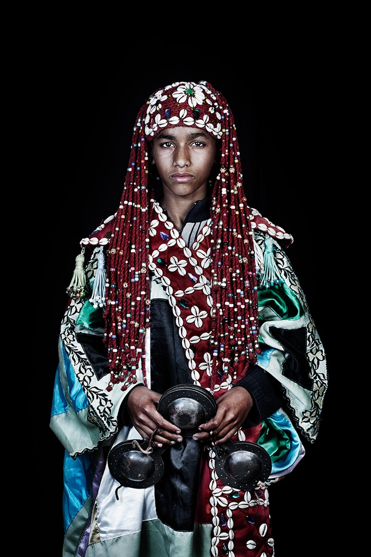 Leila Alaoui was a French-Moroccan photographer and video artist. For her series, The Moroccans, she travelled the country with her mobile photo studio to capture the ethnic and cultural diversity of Morocco. Leila was killed on assignment in Burkina Faso on 15 January