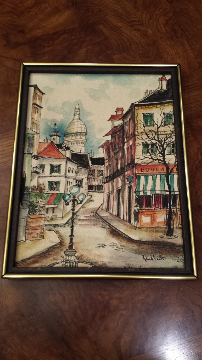 1950s Robert Scott Signed Painting by 3LittleWitches on Etsy
