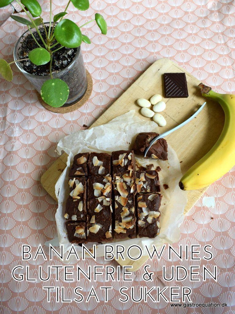 En lækker konfekt brownie med balanceret sødme fra banan og intens chokolade smag. Bagt uden gluten på butterbeans og havregryn. Browniesne er udelukkende sødet med banan og mørk chokolade (70%). Tilmed low fodmap venlig.