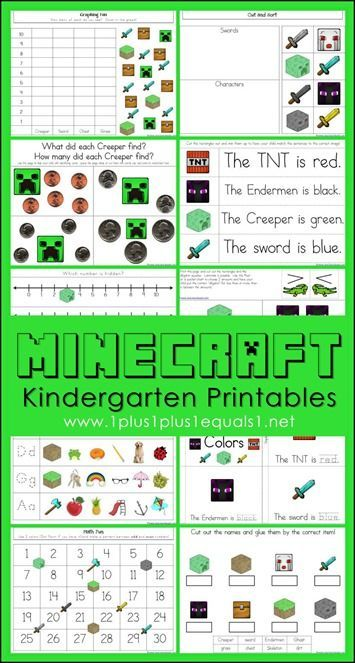 Minecraft Kindergarten Printables | Free Educational Printables ...