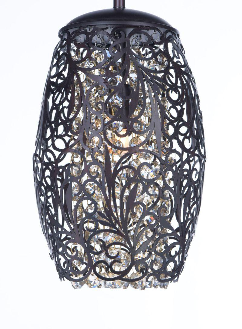 Maxim Lighting Arabesque 6 5 Wide 1 Light Mini Pendant Using G9 Xenon Bulbs In Golden Silver Steel Crystal 24153bcg Mini Pendant Metal Shades Maxim Lighting