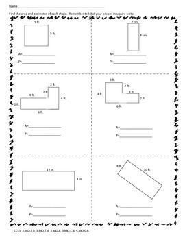 This Worksheet Is A Great Resource For Extra Practice In Finding Area And Perimeter If Y Area And Perimeter Free Math Lessons Area And Perimeter Worksheets Free grade math worksheets area and