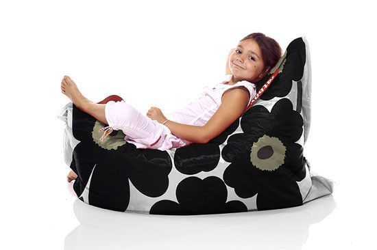 Super Marimekko Junior Bean Bag Chair Unikko Black New Unemploymentrelief Wooden Chair Designs For Living Room Unemploymentrelieforg