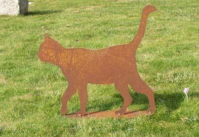 Katze Tom Edelrost Dekoration Garten Wohndeko