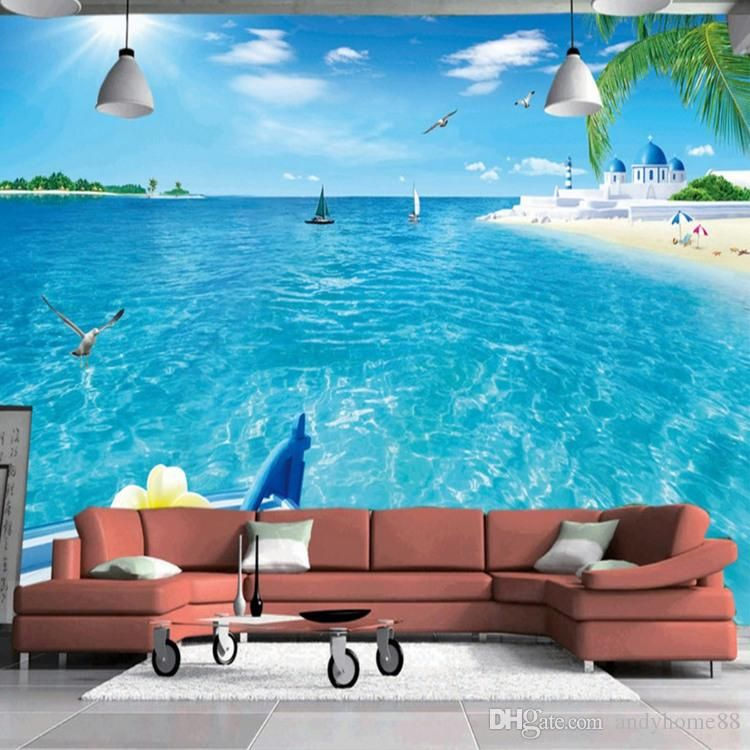 Arkadi Customized Any Size 3d Wall Mural Wallpaper Beach Scenery