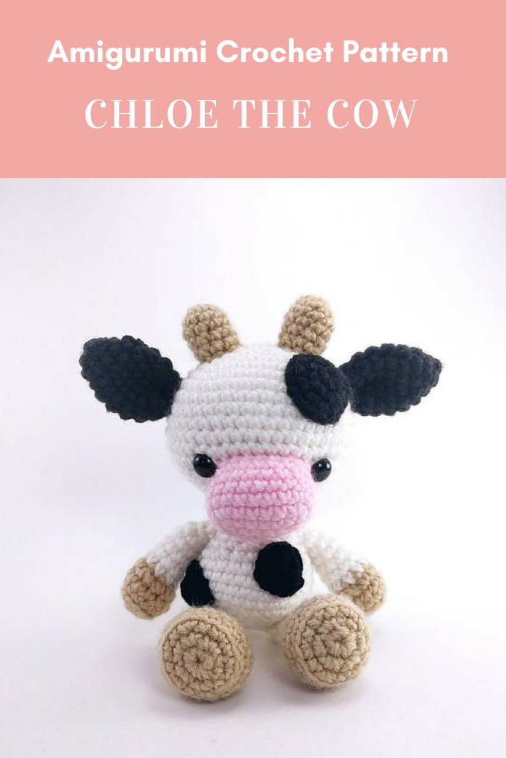 PATTERN: Chloe the Cow - Crochet cow pattern - amigurumi cow pattern ...