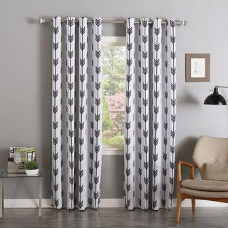 Aurora Home Arrow Room Darkening Blackout Grommet 84 Inch Curtain Panel  Pair   Overstock Shopping