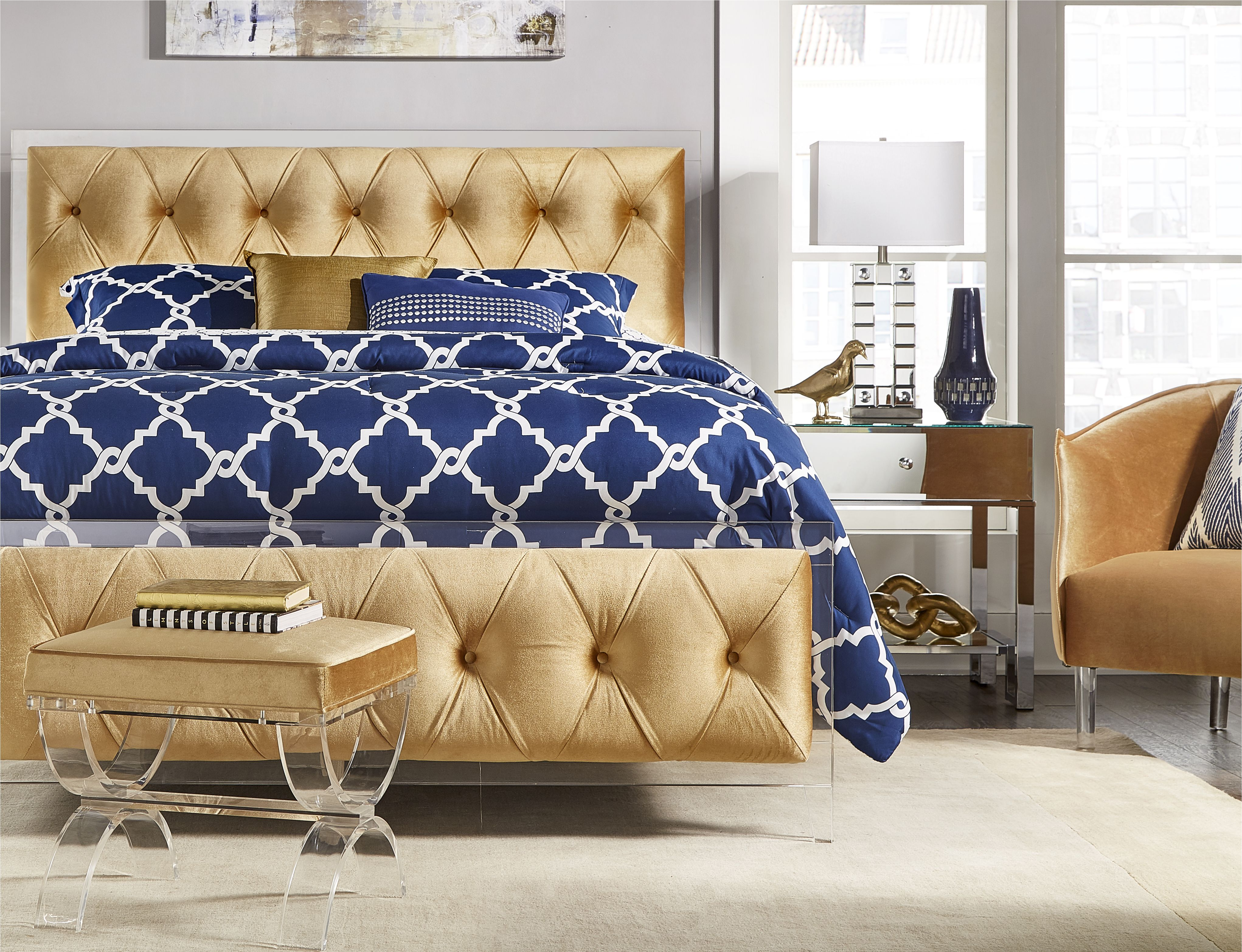 Gold Velvet Is So Luxurious And Totally Glam King Size Bedding
