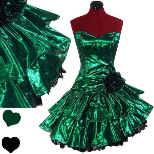 Vintage Wedding Dresses 80s: PinupDresses.com #Vintage #Dress Vintage 80s GREEN