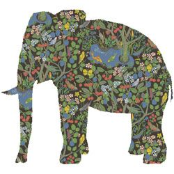 Wall paper elephant.