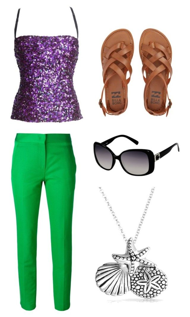"""""""modern day little mermaid"""" by mamie-jo ❤ liked on Polyvore featuring Dolce&Gabbana, Vionnet, Billabong, GUESS, Bling Jewelry, modern, disney, disneybound, littlemermaid and setsbymamiejo"""