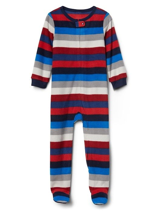 1c9b01d6a Gap Baby Crazy Stripe Fleece Footed Sleep One-Piece Crazy Stripe ...