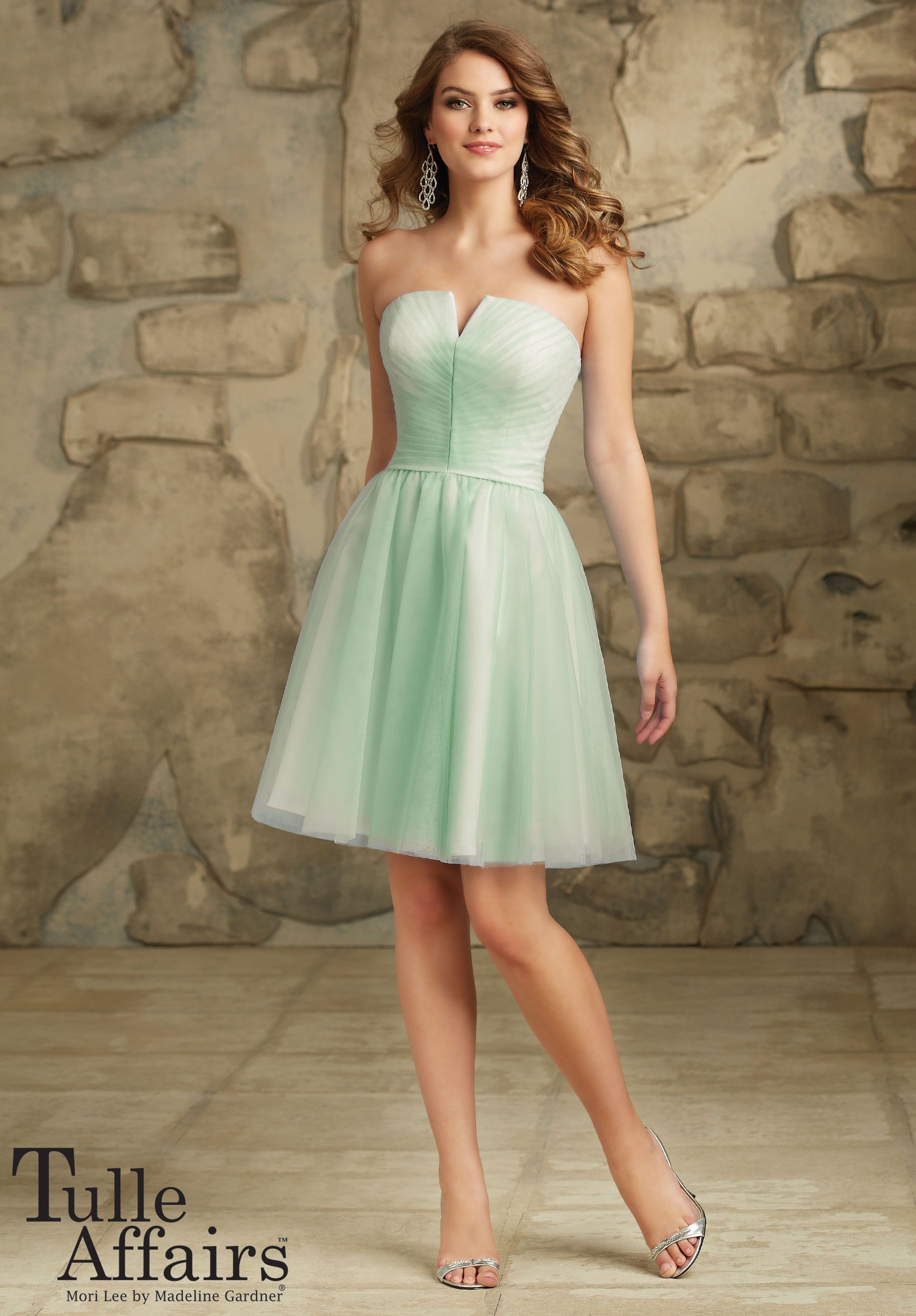 Tulle zipper back shown in mint available in all tulle colors bridesmaid dress styles ombrellifo Images