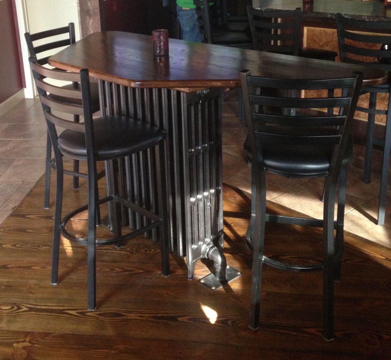 Patio Furniture Glens Falls Ny: Neat Radiator Table At The Downtown City Tavern, Glens