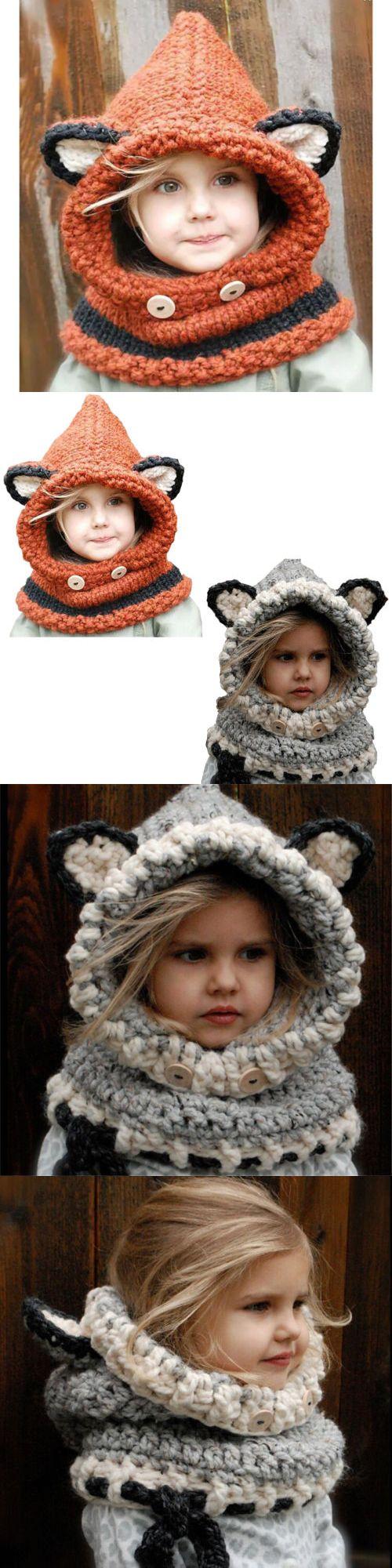 f4bc486a839 Hats 163224  Cute Baby Kids Winter Warm Fox Hat Cap Scarf Woolen Earflap  Hood Scarves Shawl -  BUY IT NOW ONLY   14 on  eBay  winter  scarf  woolen   earflap ...