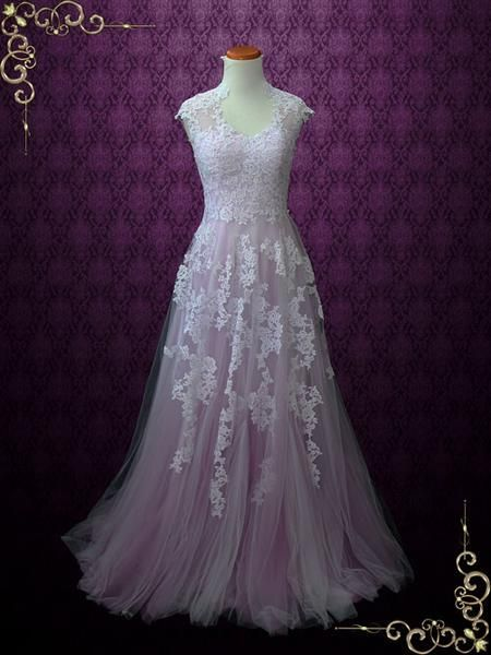Vintage-Inspired Lavender Bridesmaid Dresses