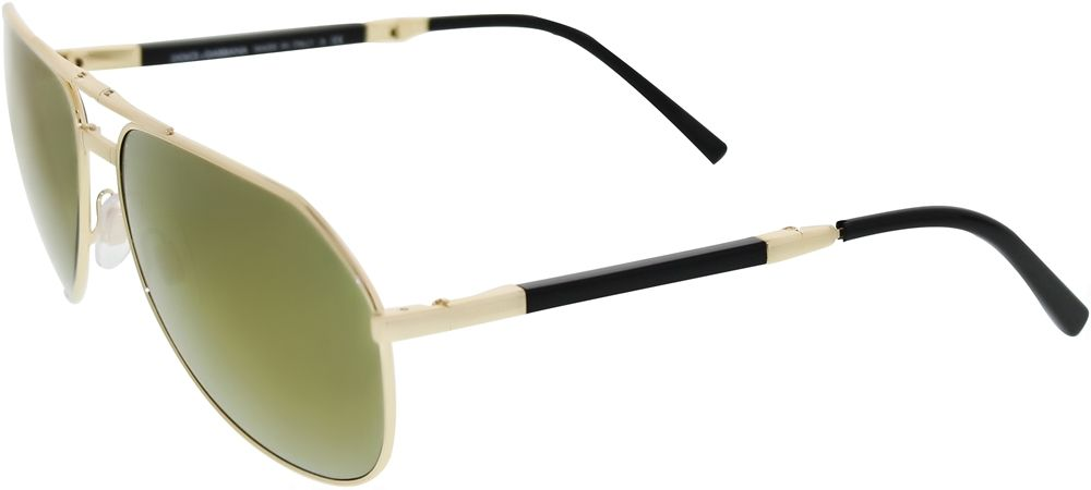 Dolce   Gabbana Men s Gradient DG2106K-440 39-61 Gold Aviator Sunglasses Review Buy Now