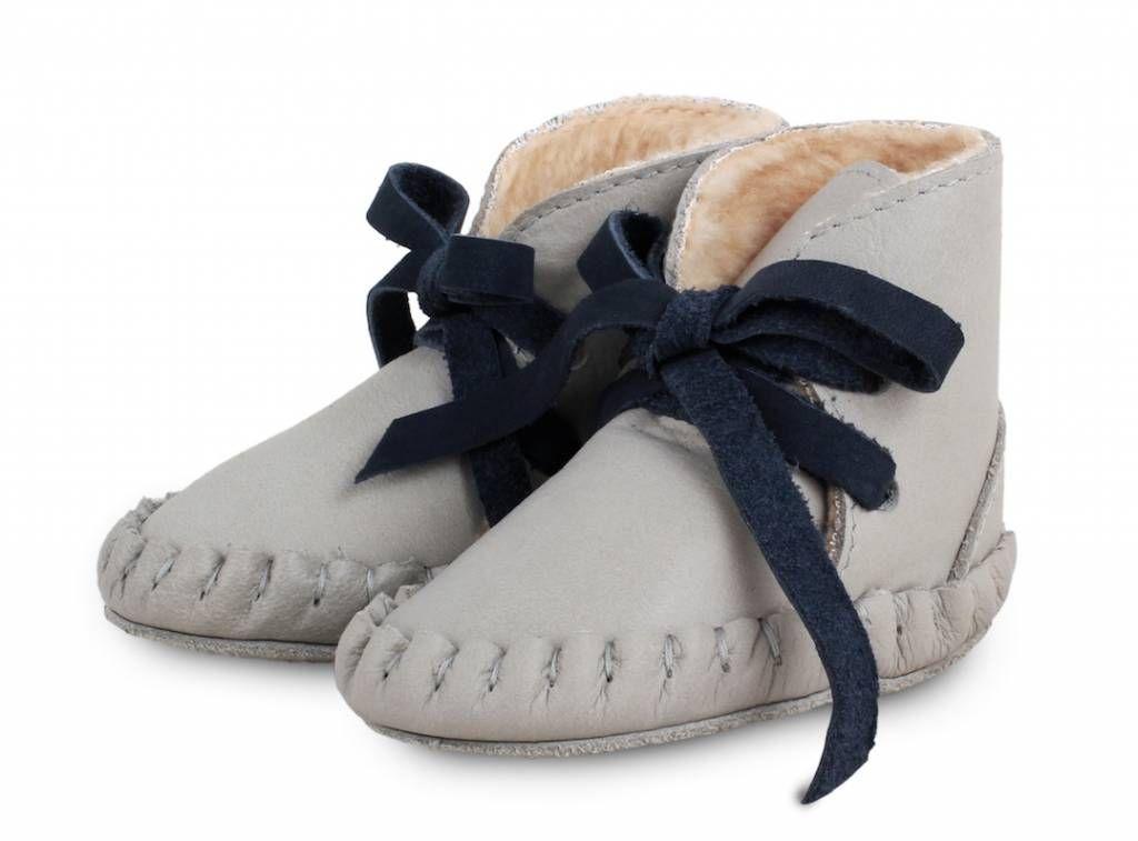 Donsje Pina Light Grey Leather + fur N E W C O L L E C T I O N Donsje staat online!! Many styles online @ http://www.stylingandco.com/nl/kids