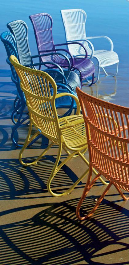 Colorful Chairs on the Beach Sit Pinterest Sillas, Playa y