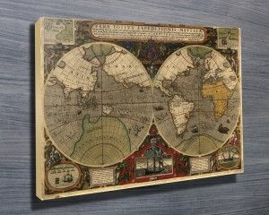 Ancient world map httpcanvasprintsaustraliaproduct we have a great collection of map art canvas prints including ancient maps of the world maps from england mexico france and germany gumiabroncs Gallery