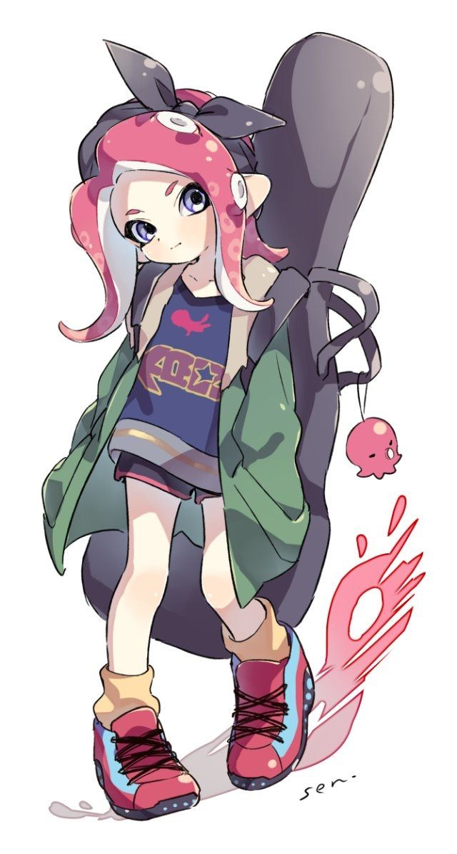anime girl hair styles splatoon 2 octoling not mine gaming pictures 3610 | 71852da8455dfff0b6a2823f584f3610