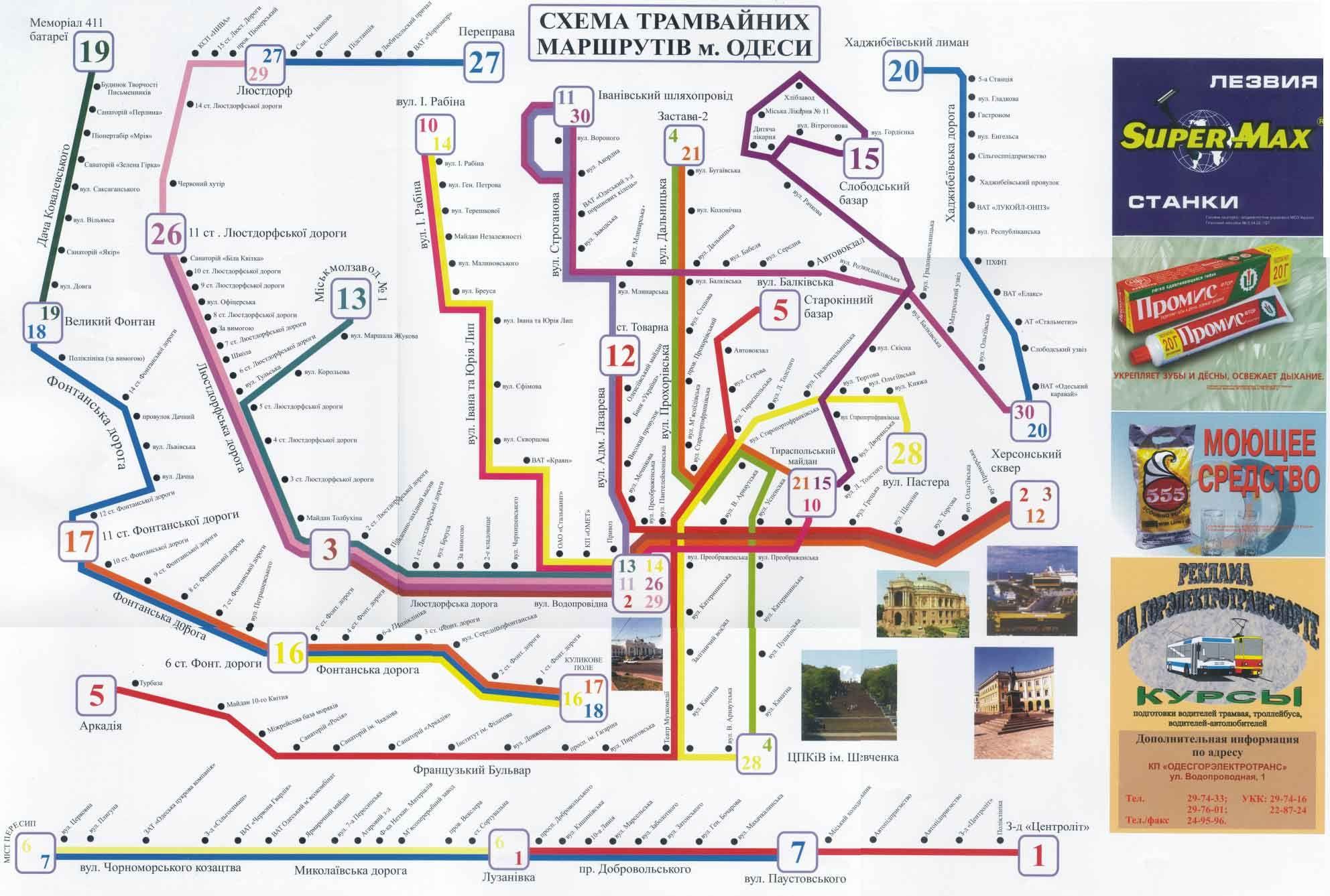 Odessa Official Tram Map 90s Odessa Pinterest