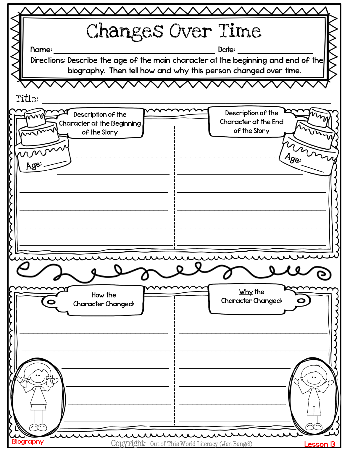 medium resolution of Freebies - Out of this World Literacy   Character change