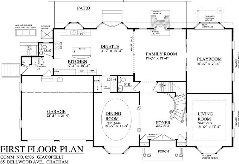Mijack Property 65 Dellwood Avenue Floor Plans House Floor Plans Center Hall Colonial