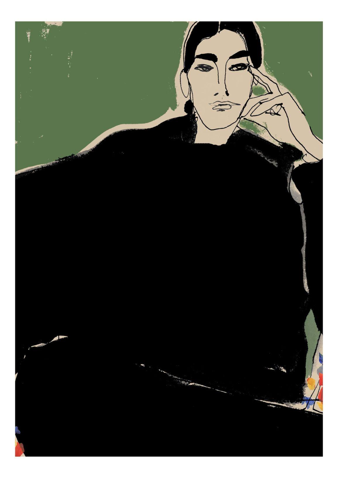 Fashion illustrator Rosie McGuinness - Agent & Art