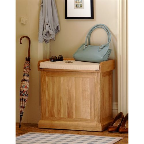 Appleby Oak Single Storage Bench with Cushion (W141) with Free Delivery | The Cotswold Company - £185  sc 1 st  Pinterest & Appleby Oak Single Storage Bench with Cushion (W141) with Free ...