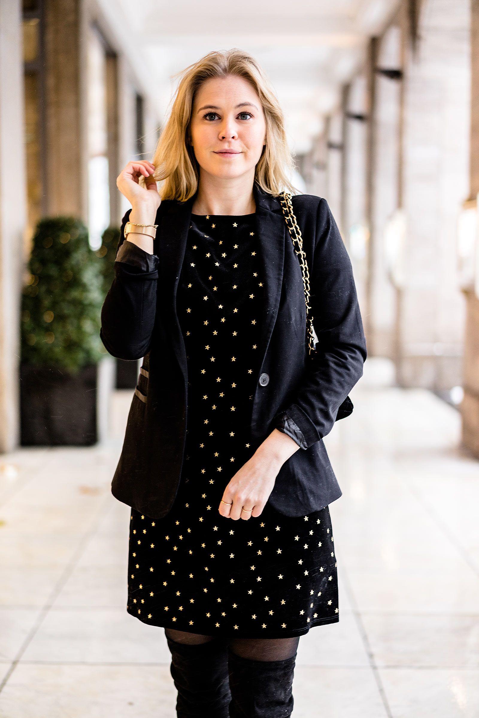 Outfit zu Weihnachten: Ein Kleid aus Samt   Pinterest   Samt ...