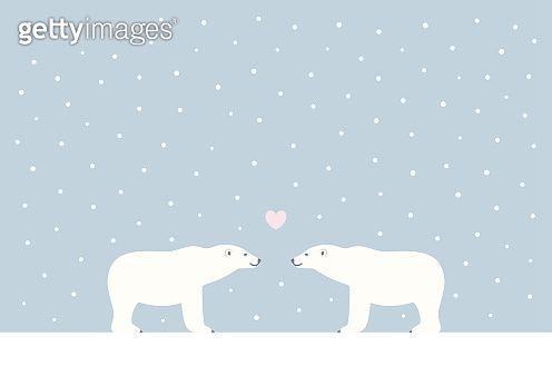 winter polar bears vector illustration by. Black Bedroom Furniture Sets. Home Design Ideas