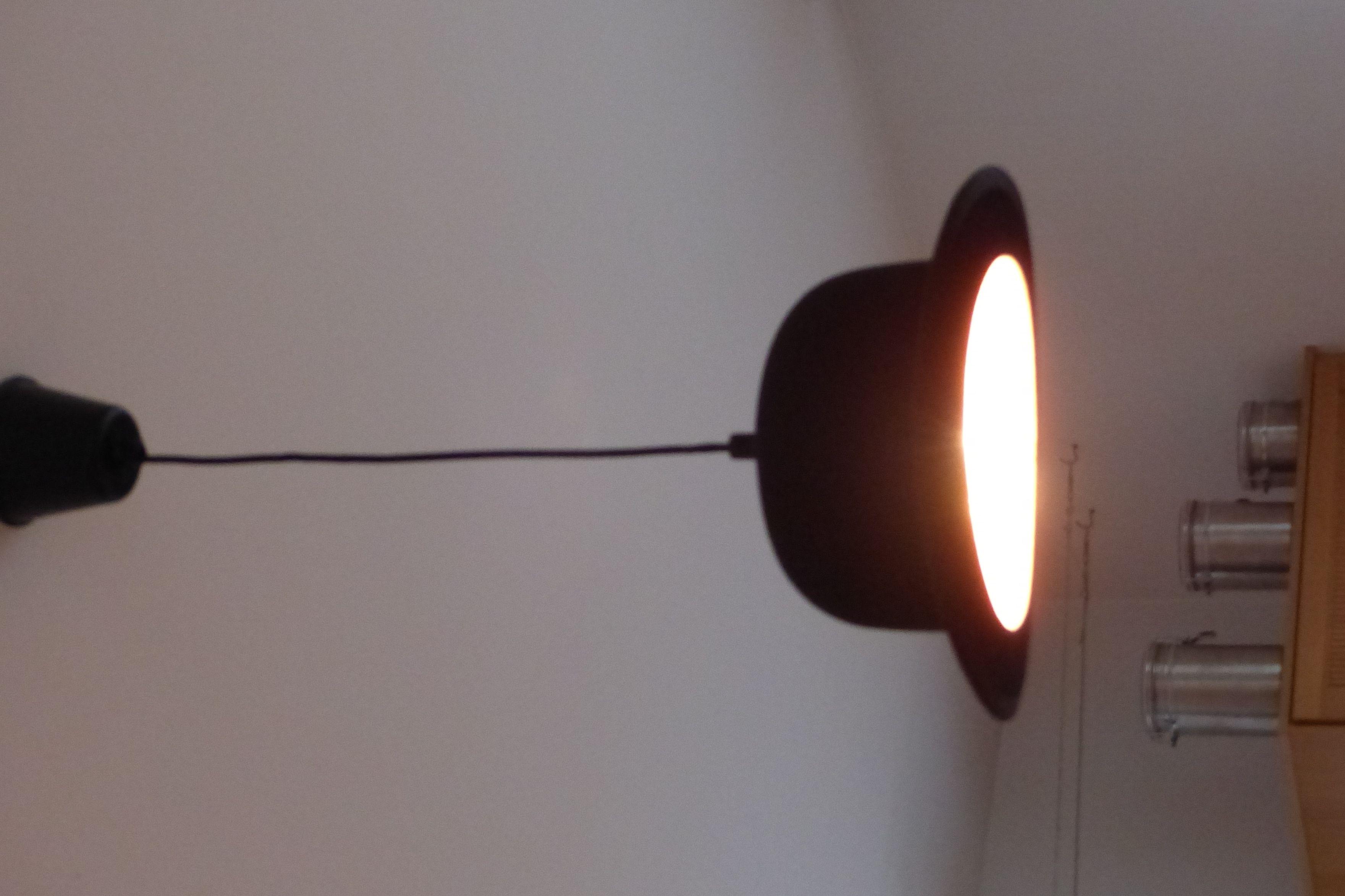 lampe suspendue chapeau melon