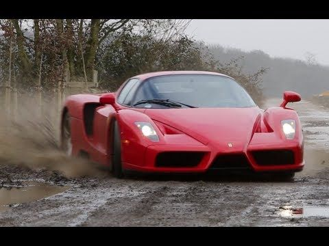 Watch These Crazy Rich People Drift A Ferrari Enzo On A Dirt Road ...