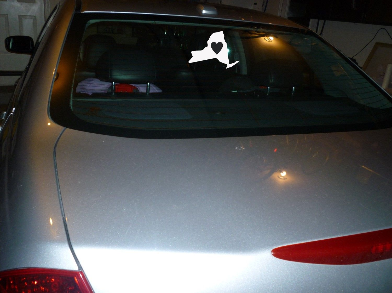 love New York state car decal sticker vinyl. $4.50, via Etsy.