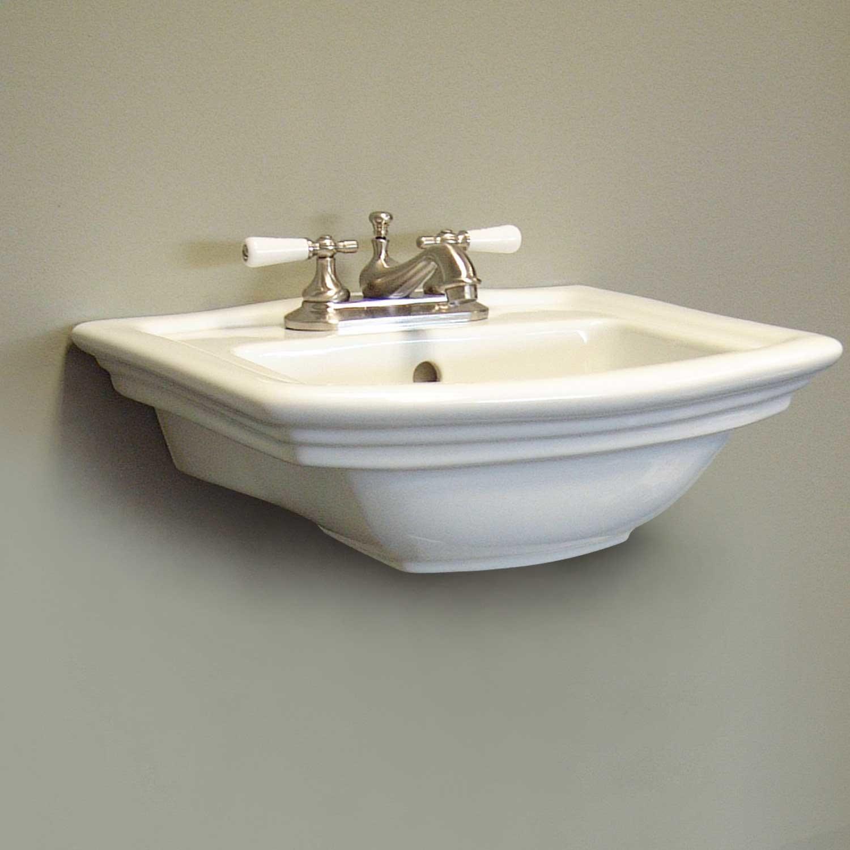 Washington Mini Porcelain Wall Mount Bathroom Sink 1 Hole