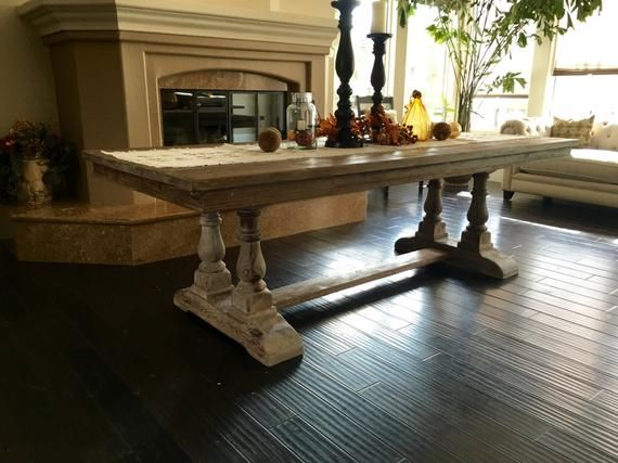 Table Dining Table Reclaimed Wood Trestle Table Wood Table