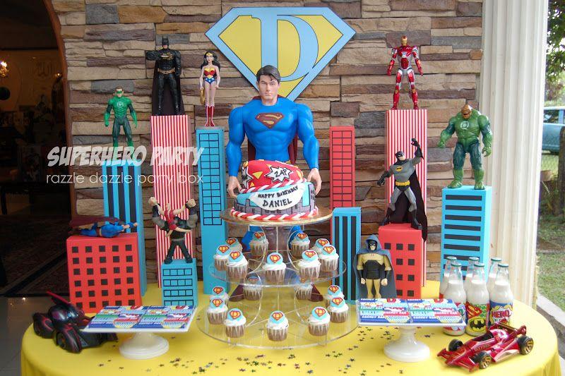 Super Hero Birthday Ideas Razzle Dazzle Party Box Theme
