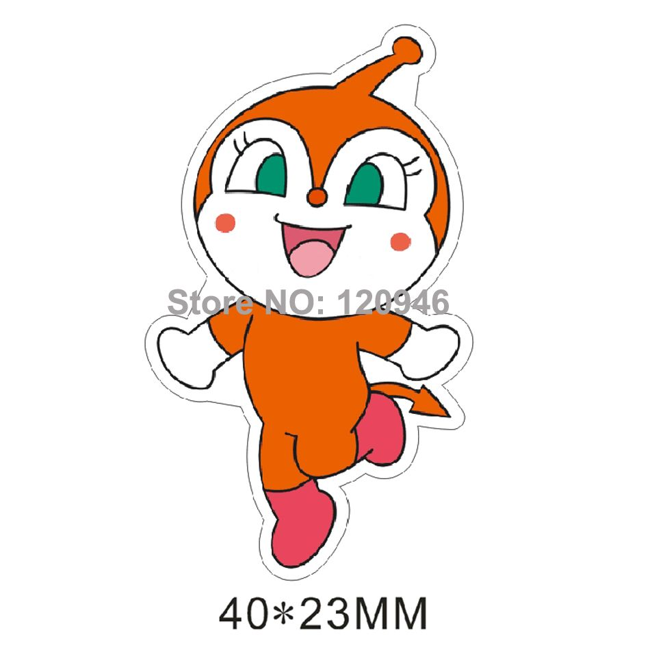 50pcs 40*23MM New Japanese Cartoon Character Flat Back Resin For Hair Bow Planar Resin DIY Craft For Home Decoration Accessories