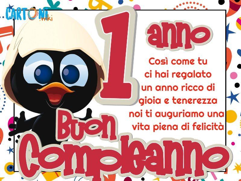 Buon Compleanno 1 Anno Con Calimero Cartoni Animati Buon