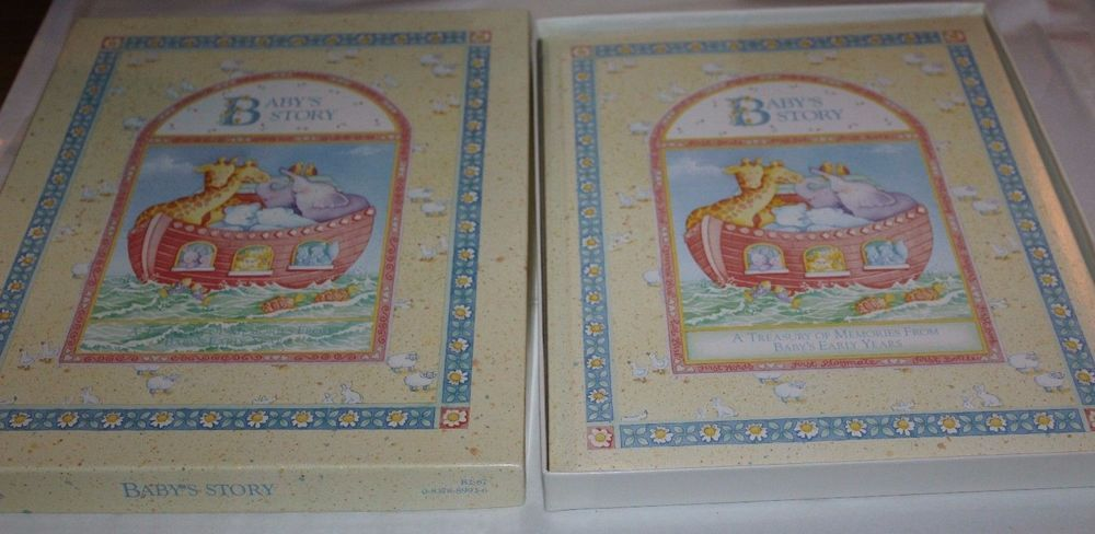 VTG 1996 Baby's Story Memory Book By Cathy Heck / CR Gibson Noah Ark