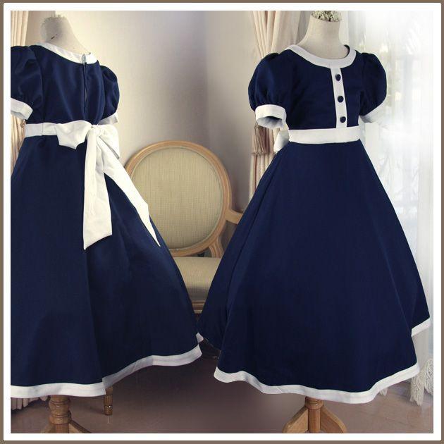 b5ab44a4134b2 子供服フォーマル 子供ドレス 花紺ワンピース セール KIDS キッズ こども 発表