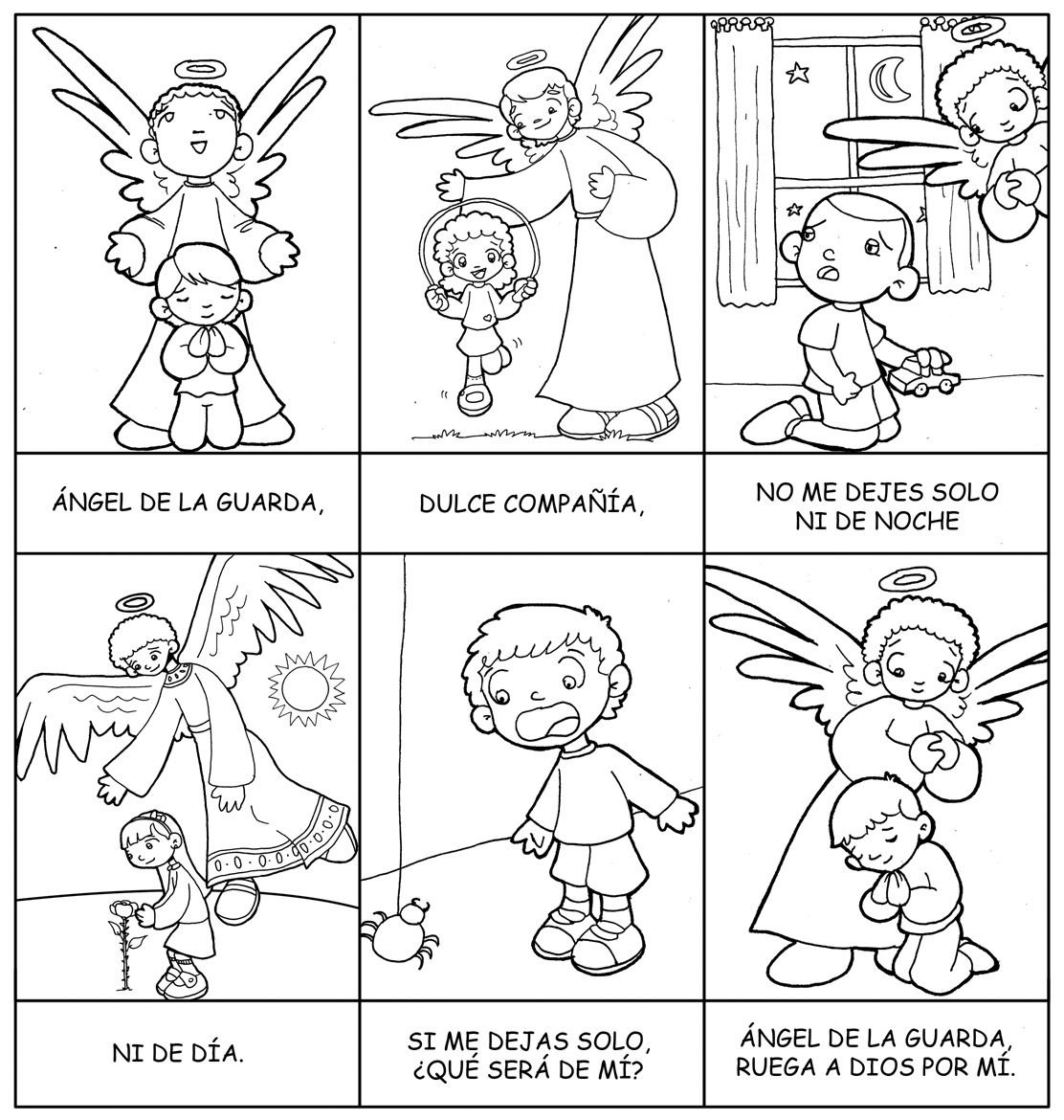 Dibujos para catequesis: ORACIÓN DEL ÁNGEL DE LA GUARDA | Ideas ...