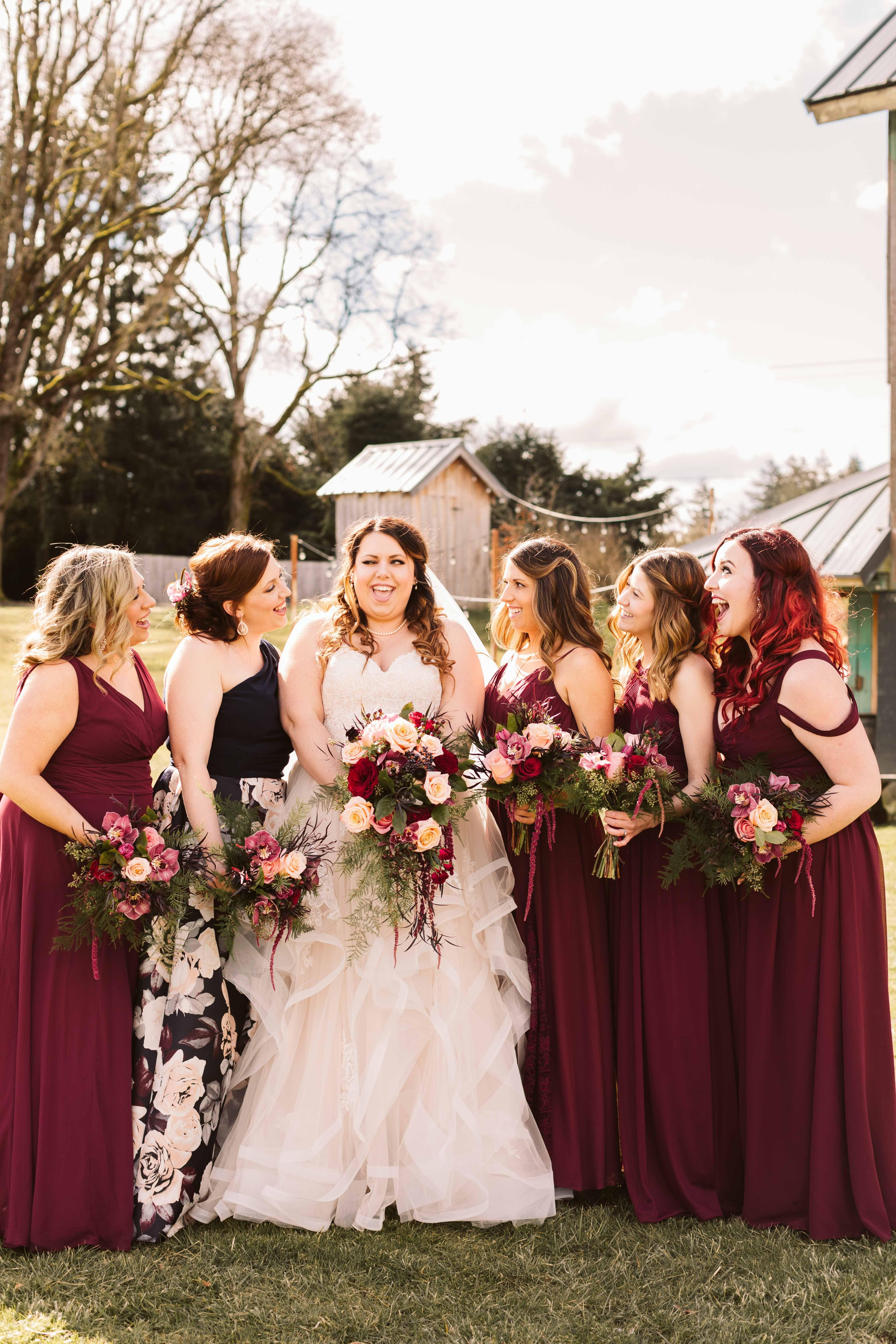 45e3f8da8f8 Burgundy Country Bridesmaid Dresses