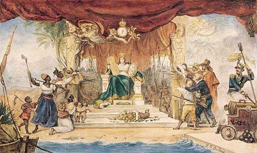Rideau de Scene du Théâtre de la Cour à l\'Occasion du Couronnement ...
