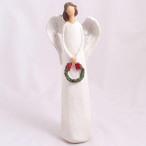 Dekoratívny  anjel s vencom  Dakls