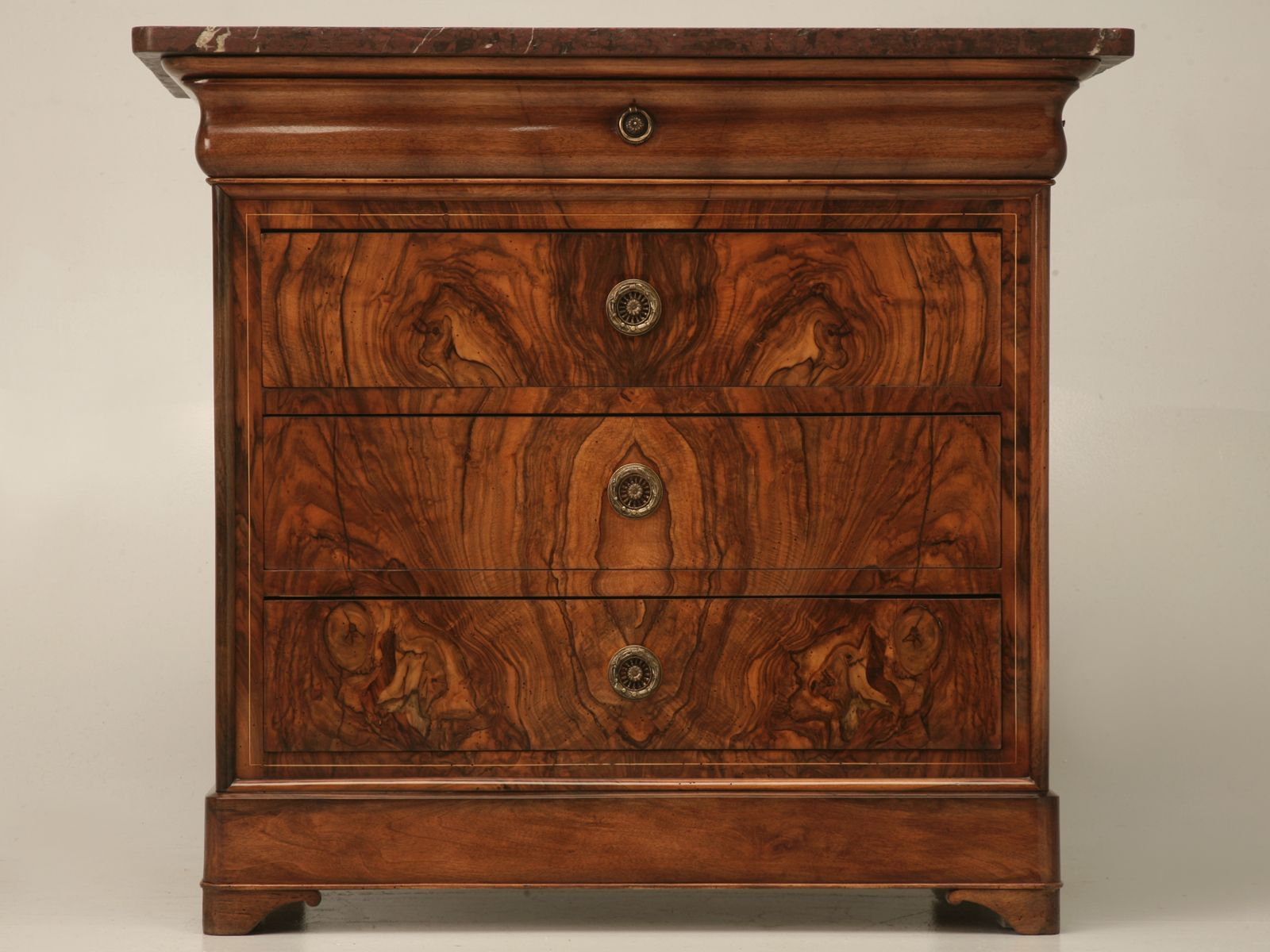 Burled walnut furniture