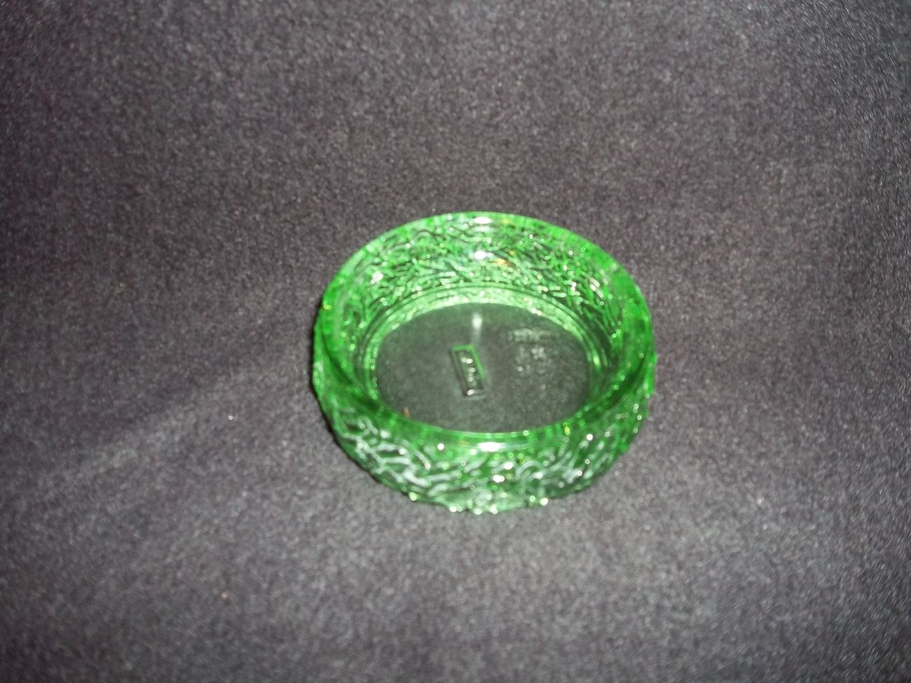 Avon Green Glass Candle Holder